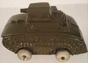 Barclay M2 Light U.S. Army Tank Metal Toy Vehicle Vintage 1930's