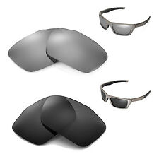 New Walleva Polarized Black + Titanium Lenses For Oakley Jury