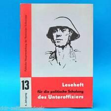 Leseheft für die politische Schulung des Unteroffiziers der NVA Nr. 13/1974 DDR