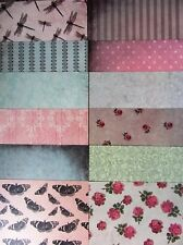 "12 x Santoro Mirabelle ll Premium 6""x 6"" Papers For Cardmaking & Scrapbooking"
