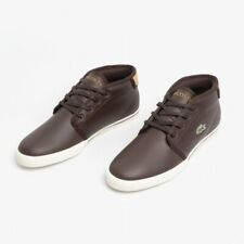 Lacoste Mens Ampthill Trainers High-tops Sneakers Brown White