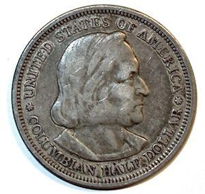 1893 Silver COLUMBIAN EXPOSITION Chicago COMMEMORATIVE HALF DOLLAR~HIGHER GRADE!