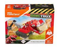 Mattel Mega Bloks DXW44 - Dinotrux T-Rux Konstruktionsspielzeug Geschenk Kinder