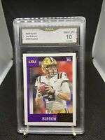 2020 Panini Score Joe Burrow #360 Rookie Card LSU GMA 10 RC Bengals Gem Mint