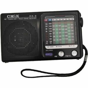 KK-9 Portable AM/FM/SW 1-7/TV Mono Radio Receiver - XMAS stocking filler