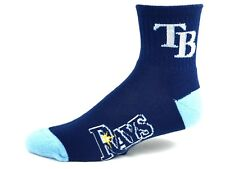 Tampa Bay Rays Men's Navy Deuce Quarter Socks