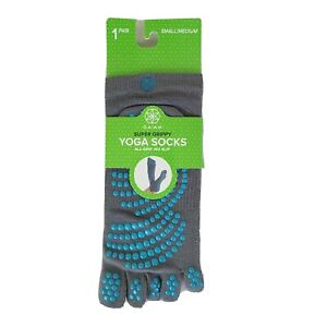 1 Pair Gaiam Super Grippy Yoga Socks Women's Small / Medium Gray Brand NIP