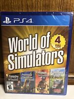 World of Simulators Ultimate Edition (Playstation 4, 2019) Factory Sealed