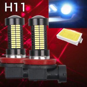 2 pcs H11 Blue 108 4014 LED Bulb For Car Truck Fog Light For Acura Honda