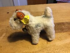 ANTIQUE VINTAGE GERMAN RARE STEIFF FOXY FOX TERRIER DOG + ALL ID MINIATURE 4""