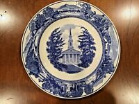 "Wedgwood Middlebury College Mead Chapel Blue Scenic Plate 10.5"" Antique Vintage"