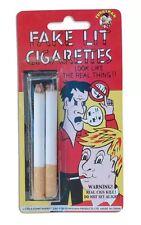 Fake Lit Cigarettes Cigarette Fag Prank Novelty Jokes Party