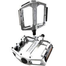 """Redline Low Profile Aluminum BMX Platform Pedals Silver 9/16"""""""