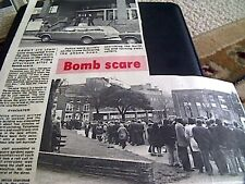 67-3  ephemera 1974 picture article bomb scare thanet council offices