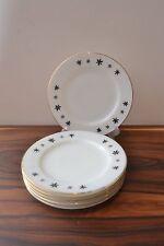 Fabulous MId Century Pyrex 'Gaiety'  Snowflake Design Tea Plates x 6