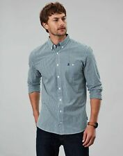 Joules Men Abbott   Long Sleeve Classic Fit Peached Poplin Shirt  -