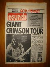 SOUNDS 1972 OCT 28 KING CRIMSON + ROD STEWART POSTER