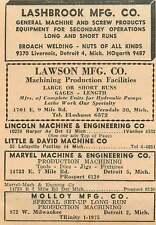 1946 Lawson Mfg Co E 9 Mile Rd Ferndale Lashbrook Livernois Detroit Ad