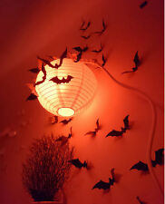 12pcs 3D Stereoscopic Bat Wall Sticker Decal Removable Room Halloween Decoration