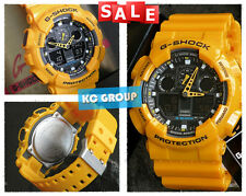 G-SHOCK BRAND NEW WITH TAG GA-100A-9A YELLOW X LARGE ANLOGUE & DIGITAL WATCH