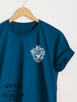 Ravenclaw Crest T-Shirt Pocket Print Women Unisex Shirts Top Tee