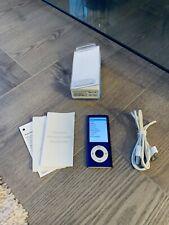 Apple iPod nano 5th Generation Purple (8GB) Fantastic Condition Boxed Bundle