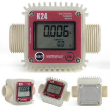 K24 LCD Turbine Digital Durchflussmesser Ölzähler Chemikalien Wasser Messgerät