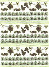 Pine Cone Tree Border Christmas XMAS Scrapbook Stickers 3 Large Sheets!
