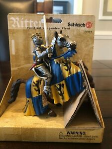 SCHLEICH 70009 Knights Prince on Reared Up Horse - NEW NIB