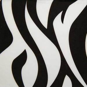 Zebra Print Dog Bowls - Black Melamine Stainless Steel Safari Diners 49 oz Size