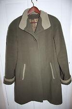 Women's autumn winter coat pure wool size L(12-14UK)