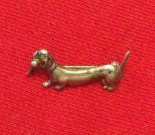 vintage Horacio de la PARRA Dachshund DOG Mexico Sterling SILVER tiny pin brooch