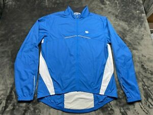 Peral Izumi Cycling Jersey Long Sleeve Men's Large Solid Blue Pockets