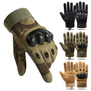 Tactical Hard Knuckle Full Finger Hunting Gloves Military Army Outdoor Driving