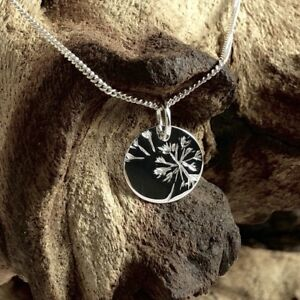 Solid 925 Sterling Silver 11mm Wish Disc Pendant  Charm
