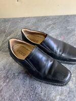 Men's ECCO Black Leather Lace Up  Moc Toe Oxford Dress Shoes Sz. 40 US 8 N19