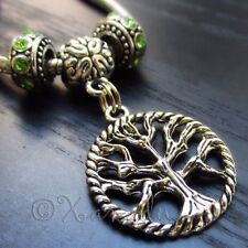 Tree Of Life Charm And European Large Hole Birthstone Beads For Charm Bracelets