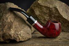 HAND MADE WOODEN TOBACCO SMOKING PIPE BRUYERE no 74 Red  Briar  +  Box