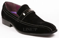 Men's Black Casual Slip On Casual Loafers Comfortable Shoes