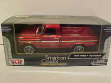 1969 Ford F-100 Pickup Truck Die-cast 1:24 Motormax 8 inches Wine
