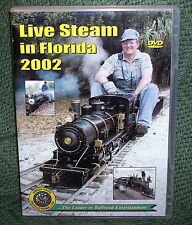 "20009 TRAIN VIDEO DVD ""LIVE STEAM IN FLORIDA 2002"" 4 LAYOUTS"