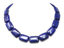 Excepcional Bella Collar desde Lapislázuli en Forma Rectangular