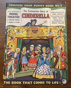 VTG Treasure Hour Puppet Book #2 Cinderella Darby Headley Characters Scenes Set