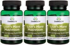 Lion's Mane Mushroom 500mg 180 Caps Hericium Erinaceus Help Brain Mental + Bonus