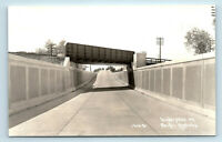 PACIFIC COAST HIGHWAY, CA  TRAIN BRIDGE RAILROAD UNDERPASS  PATTERSON RPPC #1536