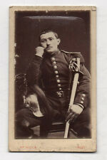 CDV PHOTO MILITAIRE - Sabre Casque Uniforme - CREST - ROZIER - Vers 1900