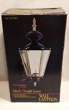 Wall Lantern / Wilkesboro Collection / Black - Bright Brass