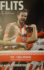 off. Programme UCL 2015/16 PSV Eindhoven vs CSKA Moscow Moskou