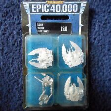 1997 Epic Eldar Falcon Grav Tank Games Workshop Warhammer 40K Army Vehicle MIB