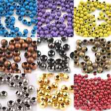 Lots Of 50-200PCS Big Holes Metal Loose Spacer Round Beads End Beads 3/4/5/6/8mm